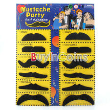 12 Stylish Costume Party Fake Beard Mustache Party Fun SACA