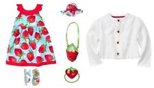 "NWT GYMBOREE BURST OF SPRING ""STRAWBERRY"" DRESS size 4T with hat,sweater,sandals"