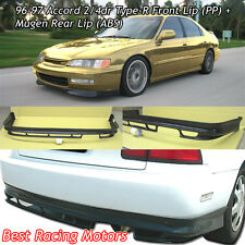 Type-R Style Front + Mu-gen Style Rear Lip Fits 96-97 Honda Accord