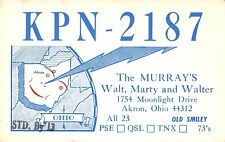USA The Murray's KPN-2187 Akron OH Radio Club RADIOAMATORI (R-L 108)