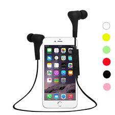 Bluetooth Wireless Auricolare Cuffie Stereo Impermeabile Sport NUOVO