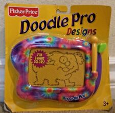 FISHER PRICE DOODLE PRO DESIGN MAGNETIC DRAWING SCREEN PORTABLE - TIE DYE FUN