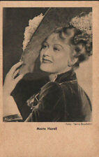 OLD POSTCARD ACTRESS GERMANY . MARTE HARELL . YEARS 1940 . SEE MY STORE CC1279