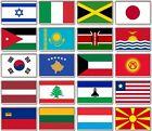 FRIDGE MAGNET - WORLD FLAGS (Various) Large Jumbo, I to M