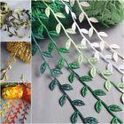 VINTAGE Satin Leaf Leaves Vine Garlands Ribbon Sew On Lace Trim Bridal Spring