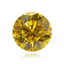 Yellow Loose Diamond Round Cut Natural Fancy Color 1.00 Carat VS1