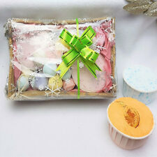 LUSH MINI SOUFFLE BOMBS & CHILL PILLS GIFT SET - IN A NATURAL HESSIAN BASKET