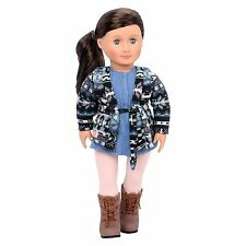 "New Our Generation Marley 18"" doll Brown Hair Fits American Girl Grace Thomas!"