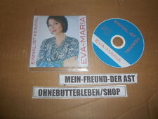 CD Schlager Eva Maria - Einmal ist keinmal (1 Song) MCD TINA COLADA