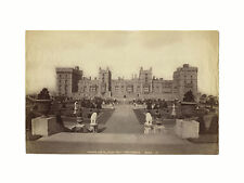 Vintage Albumen Photograph, Windsor Castle, England Royalty, James Valentine