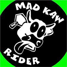 Mad Kaw Rider cow bull decals stickers ninja zx6 kx85 Ninja 300 muel vulcan 250