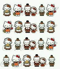 Hello kitty Nail art (water decals) Thanksgiving Nail decals