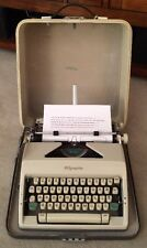 Vintage 1966 Olympia Portable SM9 Deluxe Typewriter & Case Western Germany EUC