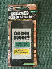 4 lots iphone Cracked Screen Sticker Practical Joke Free UK P&P