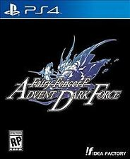 FAIRY FENCER F:ADVENT DARK PS4  GAME NEW