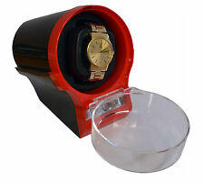 Diplomat Watch WinderCase Box Storage Timer Black / Red  Automatic