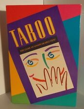 VINTAGE MILTON BRADLEY 1989  TABOO GAME THE GAME OF THE UNSPEAKABLE COMPLETE SET