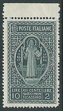 1929 REGNO MONTECASSINO 10 LIRE MNH ** - CZ20-3
