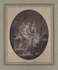 FINE 18th-C French Old Master Drawing - EISEN - Listed Artist - Rare -Provenance