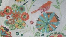 New Cynthia Rowley Whimsical Floral Birds Garden 3 pc Full/ Queen Quilt Set