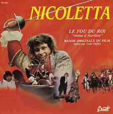 BOF LE FOU DU ROI THEME A AURELINE / INSTRUMENTAL NICOLETTA FRENCH 45 SINGLE OST