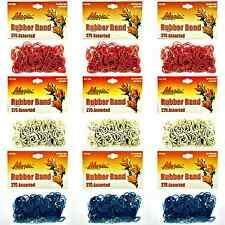 Hair Rubber Bands 2475 pcs Mixed Lot 9 bags (3 Red 3 White 3 Blue) _144-08RW&B