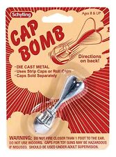 CAP BOMB Grenade rocket metal toy paper/plastic gun caps BOY STOCKING STUFFER