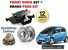 FOR MITSUBISHI i MiEV 0.7 ELECTRIC 6/2009-  FRONT BRAKE DISCS SET AND DISC PADS