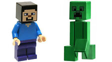 LEGO 21115 Minecraft The First Night Steve and Creeper Minifigures 2x Lot