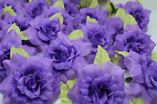 purple 10pcs artificial Silk Flower rose flower head DIY wedding supplies