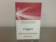 2008 Toyota Camry Hybrid OEM Owner's Manual - Good condition - Free shipping