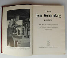 Practical Home Woodworking 1950s mens hobby craft furniture project book Odhams