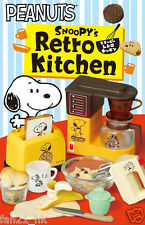 Re-Ment Miniature PEANUTS SNOOPY'S Retro Kitchen rement Full Set of 8