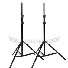 Set of Two 2m Aluminum Photo/Video Tripods Light Stand For Studio Kit Softboxes