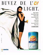 PUBLICITE ADVERTISING 064  1985  ORANGINA  LIGHT   à la pulpe d'orange