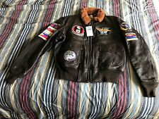 BRAND NEW COCKPIT USA CHINA LAKE G-1 GOAT LEATHER JACKET SIZE 46R 46  FREE SHIPP