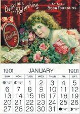 """Vintage Werbeschild """"1901 COCA COLA KALENDER"""" WERBUNG,ADVERTISING,POSTER,REKLAME"""