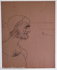 DALI SALVADOR LITHOGRAPHIE 1974 ML741 EDITION 1000 EX. HEMINGWAY LITHOGRAPH