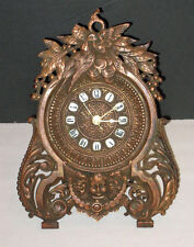 antique E.N. Welch Clock Company. EASEL MANTEL CLOCK w/ Porcelain NUMERALS
