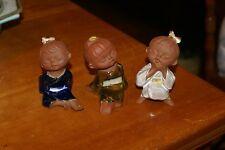VINTAGE RARE SET OF 3 SETO Ware Porcelain CHILDREN FIGURINES Japan EXCELLENT CON
