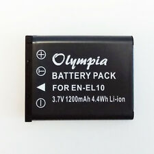 EN-EL10 Battery for Nikon Coolpix S3000 S220 S60 S210 S600 S520 -1 Year Warranty