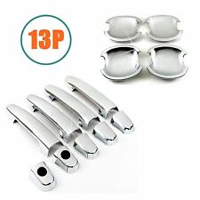 Accessories Chrome Door Handle + Bowl Covers Trims For 2003-2013 Toyota Corolla