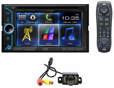 "JVC KW-V30BT 2 Din Bluetooth Car DVD w 6"" LCD, HDMI 4 Smartphone + Backup Camera"