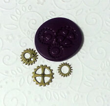 Silicone Molds Miniature Steampunk Gear (10-15mm) - Jewelry Dollhouse PMC Mould