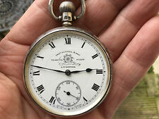 Antique Sterling Silver Thomas Russell Pocket Watch No Reserve