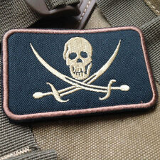 USMC INFIDEL JOLLY ROGER FLAG PIRATE SKULL WITH CROSS SWORDS 3D EMBROIDERY Patch