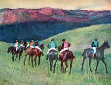 A3 Box Canvas Horse racing The training Degas