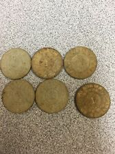 "Six (6) Lot Of Alabama State Dept of Revenue, Sales Tax ""1"" Tokens"