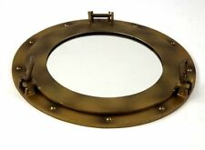 "17"" Porthole MIrror Brass Antique Finish ~ Auminum Porthole ~ Nautical Decor"