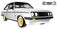 Ford Escort RS2000  MK 2 - 2Door - White with Gold Simmons